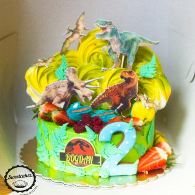 Dětský narozeninový dort pro kluka Dinosaurus 11