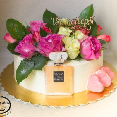 Narozeninový dort pro slečnu Chanel 3 (2 kg, 1450 kč)