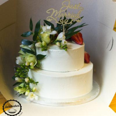 Svatební dort Romance 2 (4,5 kg, 3000 kč)