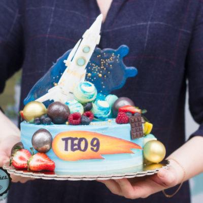 Dětský narozeninový dort  Kosmos 3 (2 kg, 1450 kč)