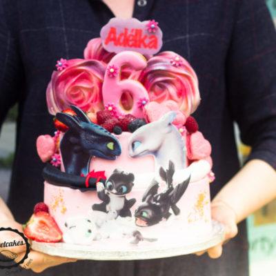 Dětský dort Jak vycvičit draka (4 kg, 2500 kč)