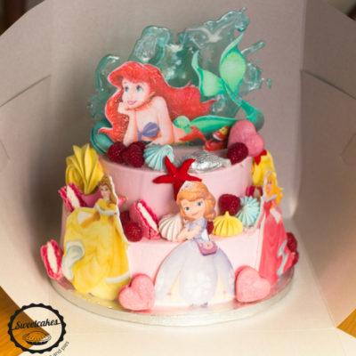Dětský dort na narozeniny Ariel 6 (4 kg, 2500 kč)