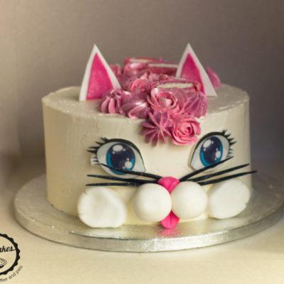 Dětský narozeninový dort Kočička 2 (2 kg, 1450 kč)