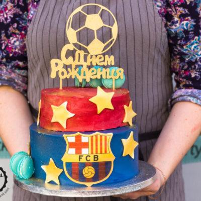 Narozeninový dort FCB (4 kg, 2500 kč)