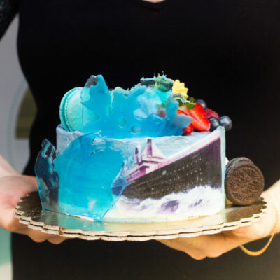 Narozeninový dort pro muže Loď (1,5 kg, 1200 kč)