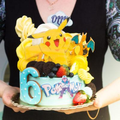 Dětský narozeninový dort Pokemon 10 (2 kg, 1450 kč)