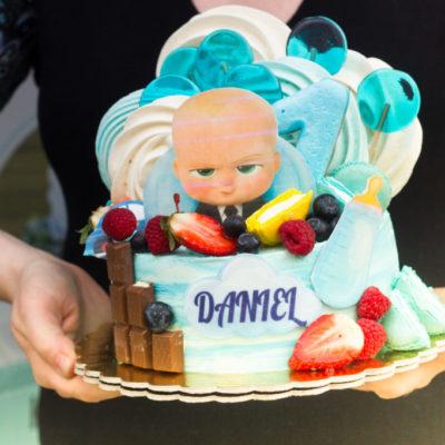 Dětský narozeninový dort Baby Boss 4 (1,5 kg, 1200 kč)