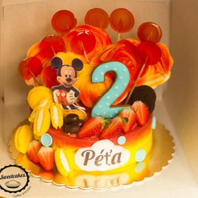 Dětský narozeninový dort Mickey Mouse 7 (2 kg, 1450 kč)