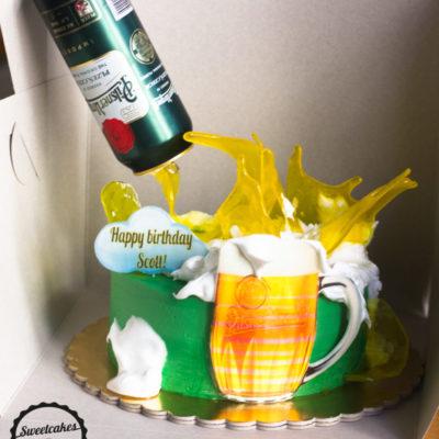 Narozeninový dort pro muže Pivo (2 kg, 1450 kč)