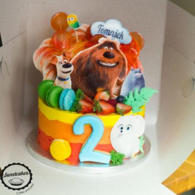 Dětský narozeninový dort Mazlíčky 2 (2,5 kg, 1700 kč)