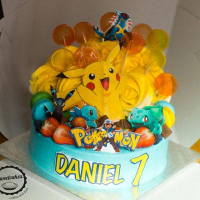 Dětský dort Pokemon 11 (3 kg, 1950 kč)
