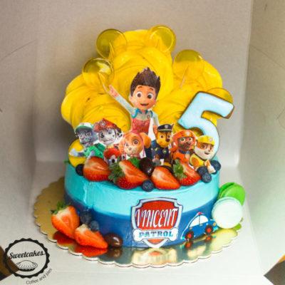 Dětský narozeninový dort Tlapková Patrola 8 (1,5 kg 1200 kč)