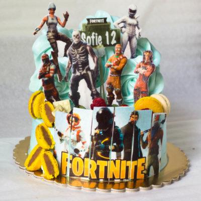 Dětský narozeninový dort pro kluka Fortnite 9 (2 kg 1450 kč)