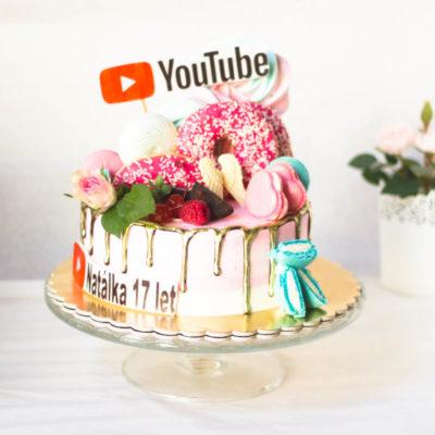 Dětský narozeninový dort Youtube 2 (2 kg 1450 kč)