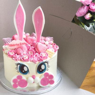 Dětský narozeninový dort Zajíček 9 (2,5 kg 1700 kč)