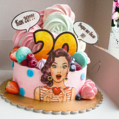 Narozeninový dort pro slečnu Pop Art 2 (2 kg 1450 kč)