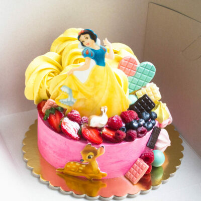 Dětský narozeninový dort na zákazku Sněhurka (2 kg 1450 kč)