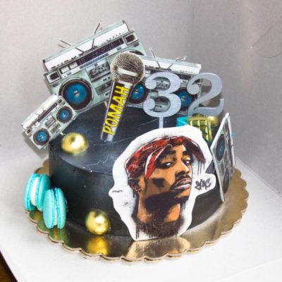 Narozeninový dort pro muže Rap (2 kg 1450 kč)