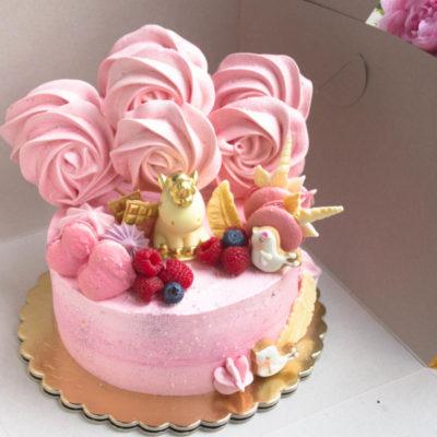 Narozeninový dort pro slečnu Čokoládový jednorožec 6 (2 kg 1450 kč)
