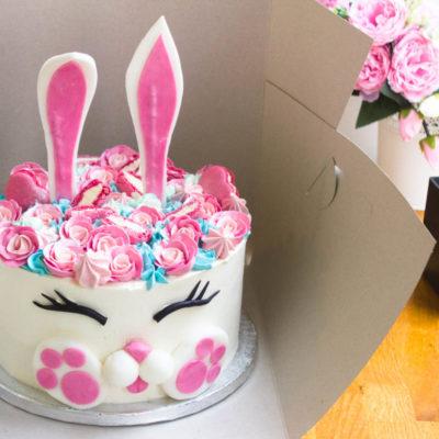Dětský narozeninový dort Zajíček 8 (2,5 kg 1700 kč)