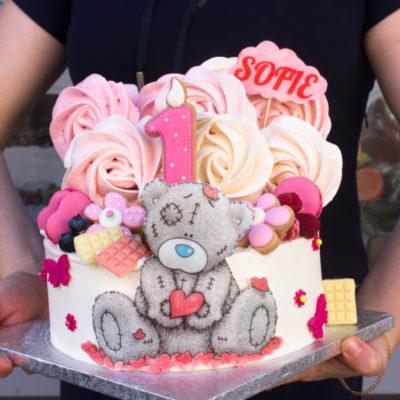 Dětský narozeninový dort Teddy 7 (3 kg 1950 kč)