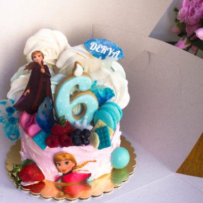 Dětský dort na objednávku Frozen 21 (1,5 kg 1200 kč)