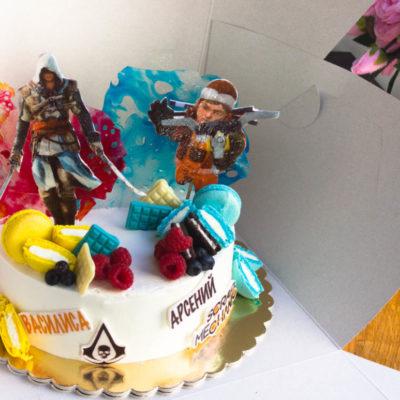 Dětský dort na narozeniny Assasin 2 (2 kg 1450 kč)