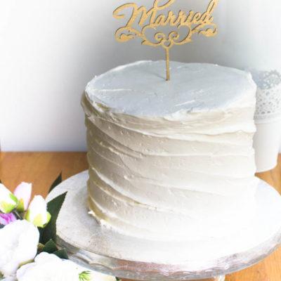 Svatební dort Elegance 2 (3 kg 1950 kč)