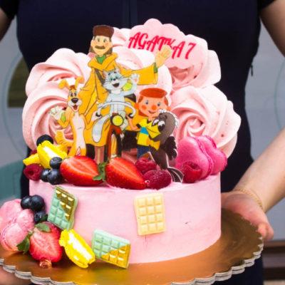 Dětský dort na narozeniny Prostokvashino (2 kg 1450 kč)