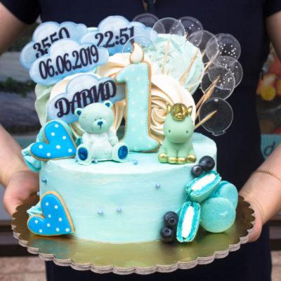 Dětský narozeninový dort Medvídek 6 (2 kg 1450 kč)