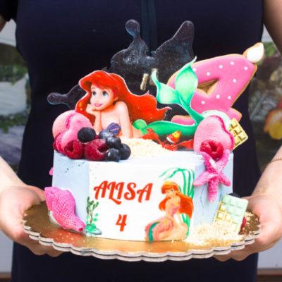 Dětský dort na narozeniny Ariel 7 (1,5 kg 1200 kč)