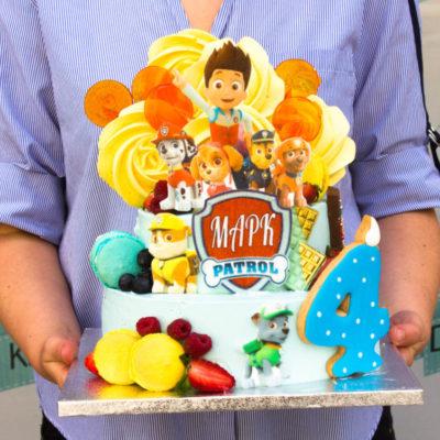 Dvoupatrový dětský dort na narozeniny Tlapková Patrola 10 (4 kg 2500 kč)