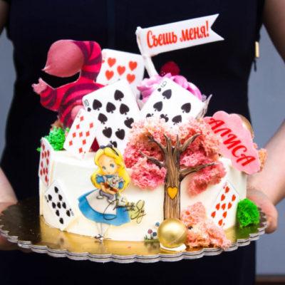 Dětský narozeninový dort na zákazku Alisa (2,5 kg, 1700 kč)