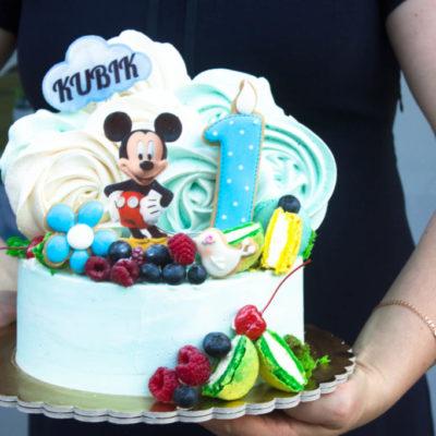 Dětský narozeninový dort Mickey Mouse 8 (2 kg, 1450 kč)