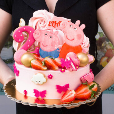 Dětský narozeninový dort na zákazku Peppa Pig 4 (2 kg, 1450 kč)