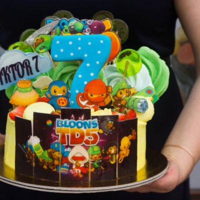 Dětský dort na objednávku Bloons TD5 (2 kg, 1450 kč)
