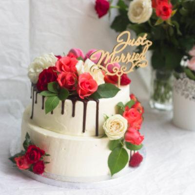 Svatební dort na zákazku Romance 3 (4,5 kg, 2800 kč)