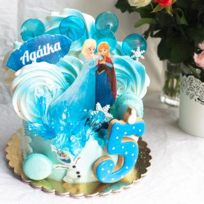 Dětský dort na narozeniny Frozen 18 (2 kg, 1450 kč)