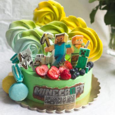 Dětský narozeninový dort Minecraft 15 (2 kg, 1450 kč)