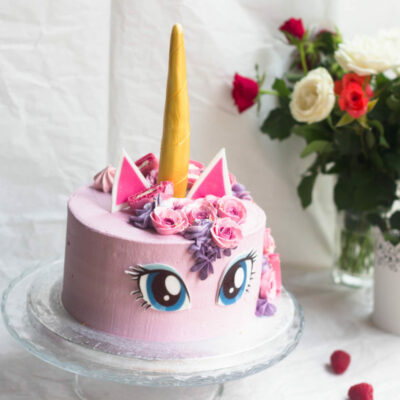 Dětský narozeninový dort Jednorožec 17 (2 kg, 1450 kč)