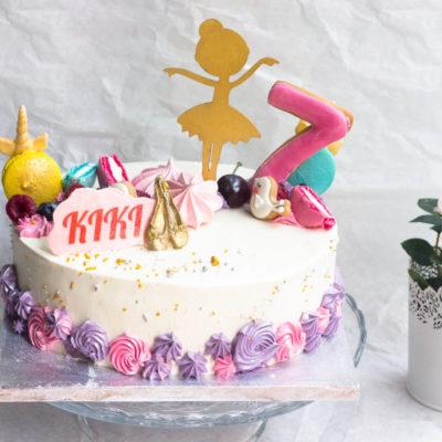 Narozeninový dětský dort Baletka 3