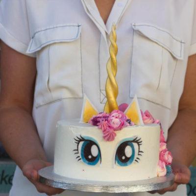 Dětský narozeninový dort Jednorožec 18 (2 kg 1450 kč)