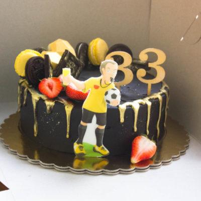 Narozeninový dort pro muže Fotbal 4 (2 kg, 1450 kč)