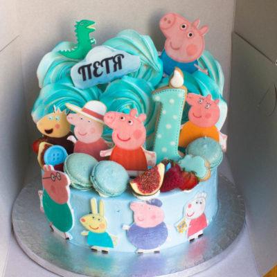 Dětský narozeninový dort Peppa Pig 6 (2,5 kg, 1700 kč)