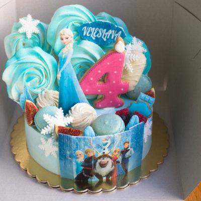 Dětský dort pro holku Frozen 25 (2 kg, 1450 kč)
