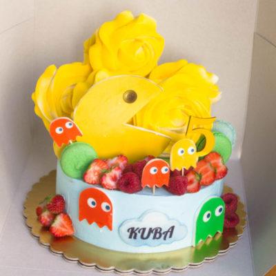 Dětský dort na narozeniny Pacman 2 (2 kg, 1450 kč)