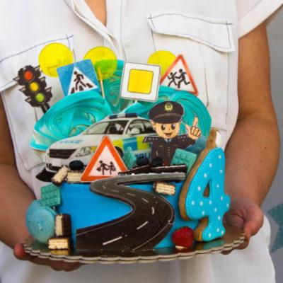Dětský dort pro kluka Policie 3 (2 kg, 1450 kč)