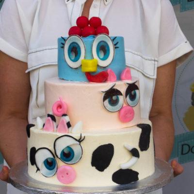 Dětský narozeninový dort Farma (5 kg, 3000 kč)