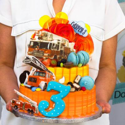 Dětský dort pro kluka Hasiči (4 kg, 2500 kč)