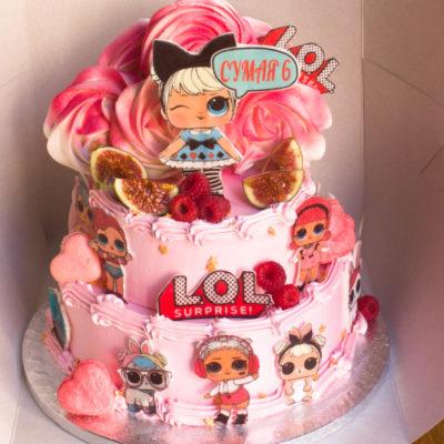 Dětský dort pro holku LOL 33 (4 kg, 2500 kč)